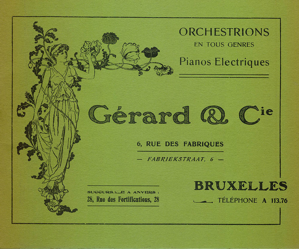 Gerard & Cie. catalogue reprint